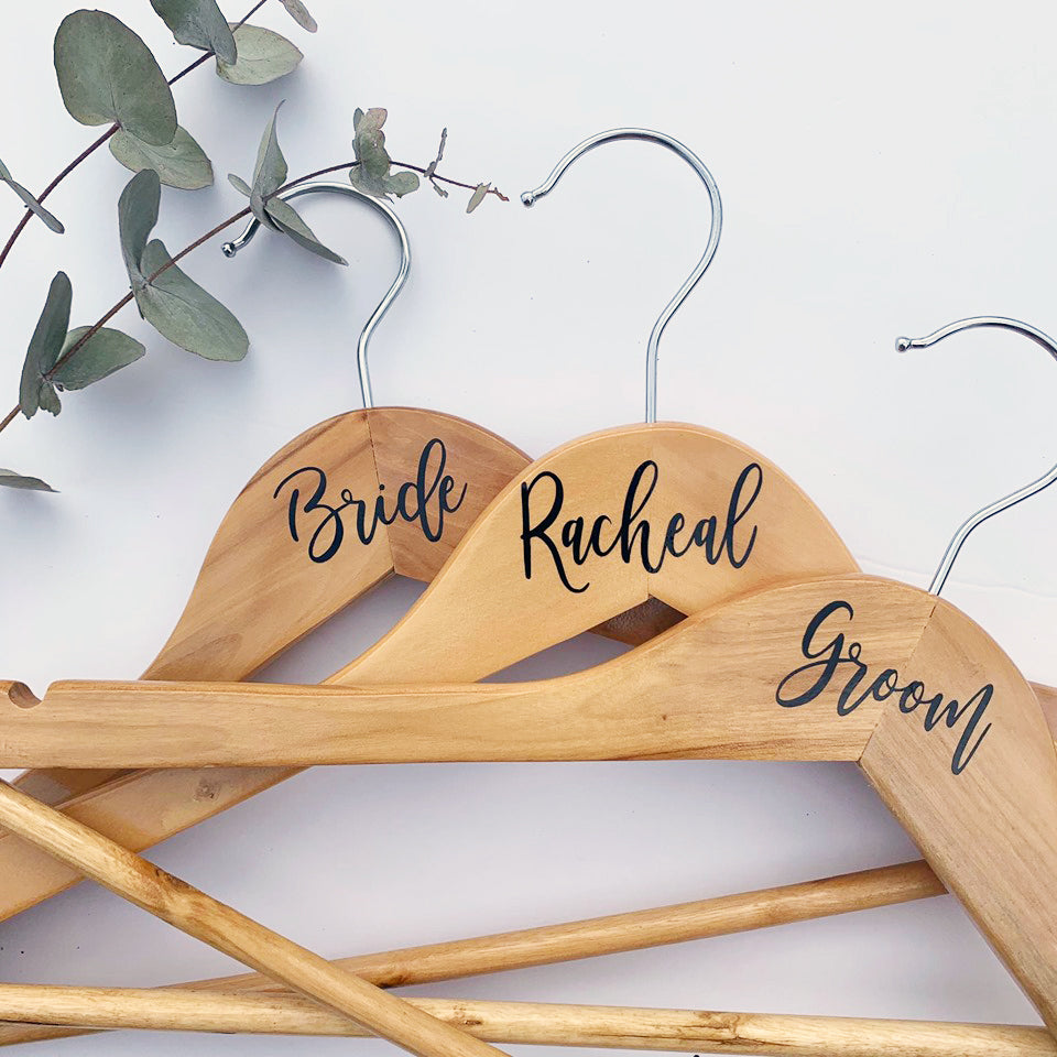 Bridal Party Coat Hanger Decal