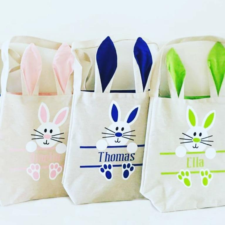 Personalised Easter Bunny Bags Whole Bunny Style