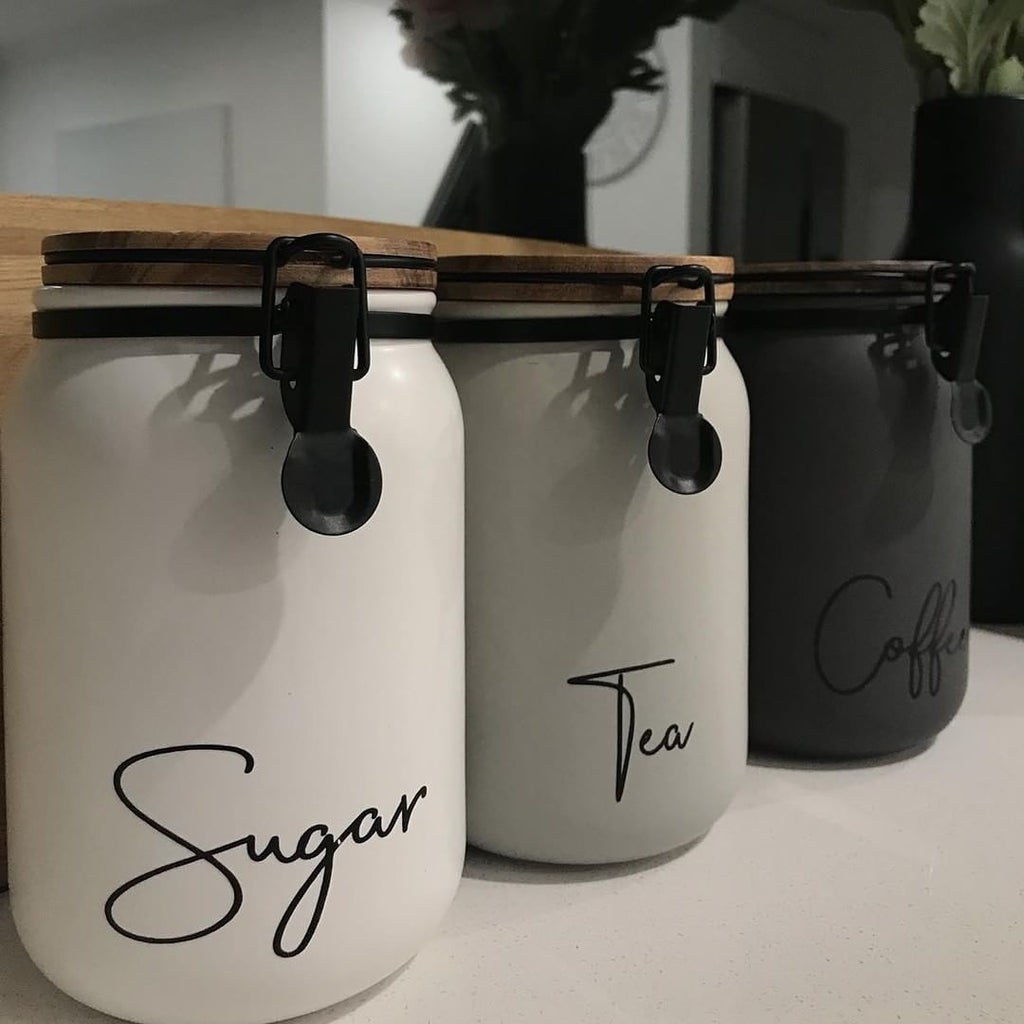 Tea, Coffee & Sugar Vinyl Labels