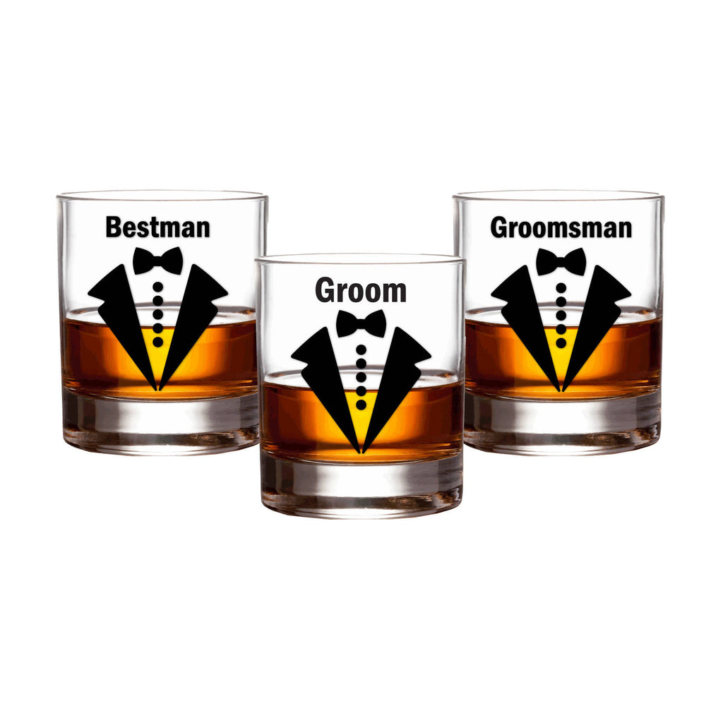 Personalised Groom Bow Tie Glass Decals