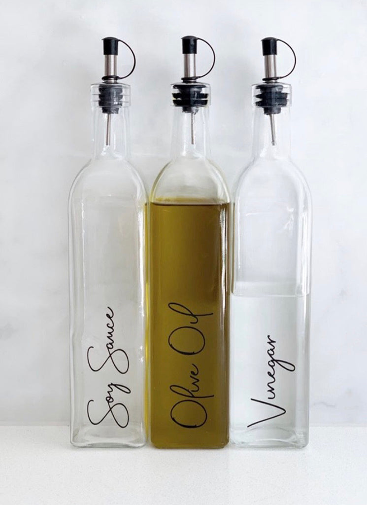 Oil & Vinegar Glass Bottle 500ml & 250ml