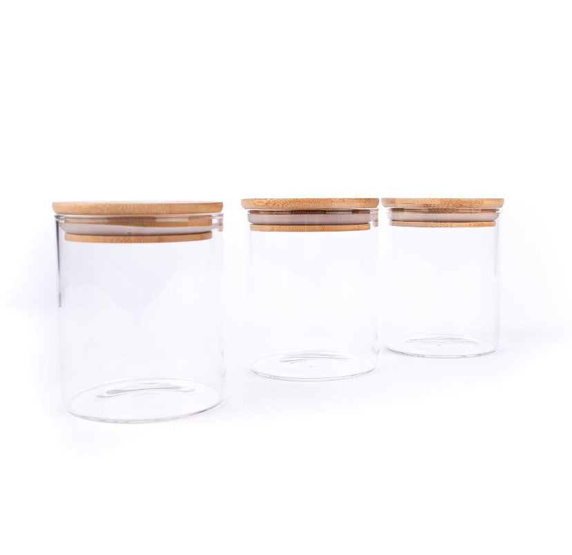 500ml Glass Canister with bamboo lid (RESTOCKED OCTOBER)