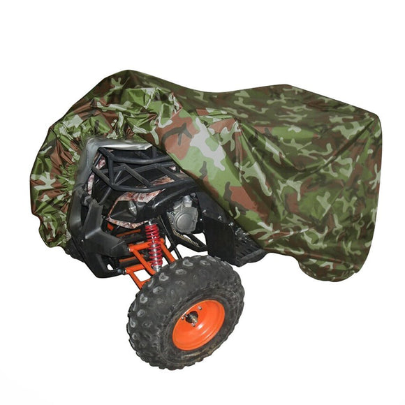 Universal All Weather ATV Cover, Waterproof Dust Sun Wind Proof Outdoor ATV UV Cover, Durable Quad Storage Protection for Honda Polaris Yamaha Suzuki (Camo, XXL)