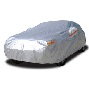 Car Covers for Automobiles Waterproof All Weather Sun Uv Rain Protection with Zipper Mirror Pocket Fit Sedan