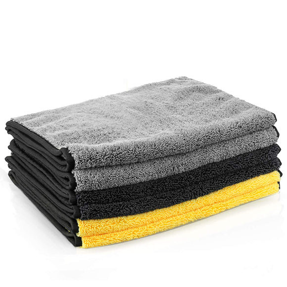 Microfiber Cleaning Cloths 16'' x 32'' Microfiber Towels for Cars Ultra-Thick Super Absorbent Car Microfiber Towel for Washing Polishing Waxing and Drying Detailing Towel