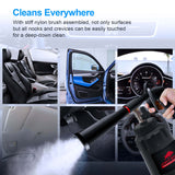 JOINT STARS CANNON High Pressure Car Cleaning Gun black Wash Spray Bottle Nozzle with Metal Spinner, to get FREE BONUS: Car Detailing Sponge