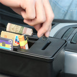Car Console Side Pocket Seat Crevice Storage Organizer Auto Seat Gap Pocket Organizer with Coin Box and Water Cup Holder