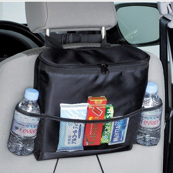 new multifunction car organizer back seat cool bag insulated auto pocket for children drink holder with mesh storage bag