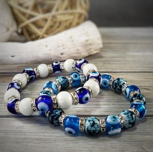 evil eye glass bead bracelet