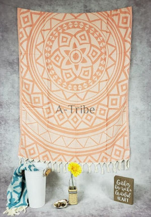 Turkish Beach Towels coral