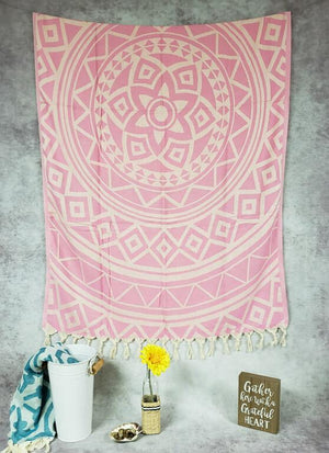 Turkish Beach Towels pink mandala