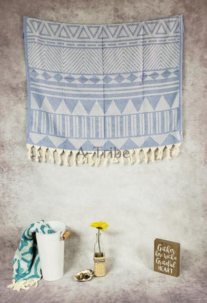 Turkish peshtemal towels denim