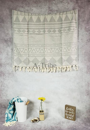 Turkish peshtemal towels silver