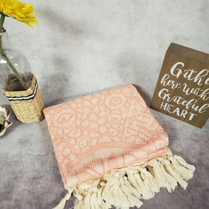 Turkish Beach Towels coral orange