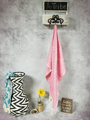 Turkish Beach Towels pink color