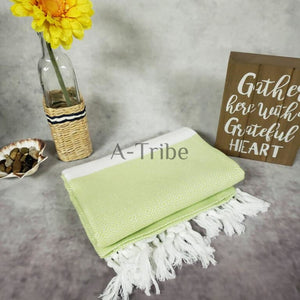 Turkish towels Peshtemal green