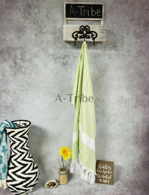 Turkish towels Peshtemal hammam blanket lime green
