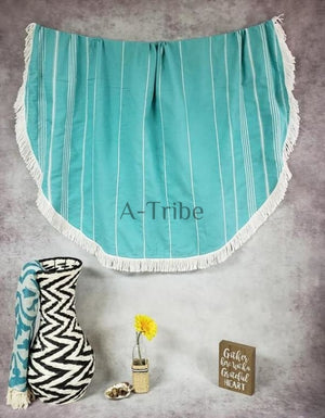 Round Turkish Beach Towels