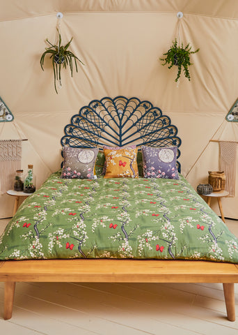 the chateau collection butterfly and blossom duvet set