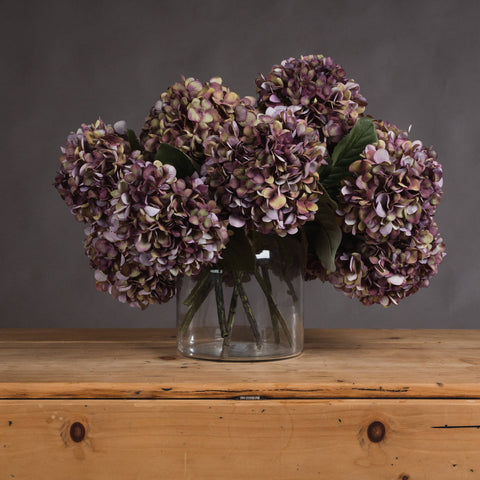 The Recipe Collection Autumn Burgundy Hydrangea