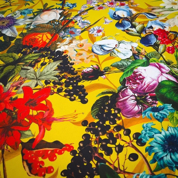 Floral Vintage Home  Exotic Flowers Lampshades and Fabric Sunshine Yellow