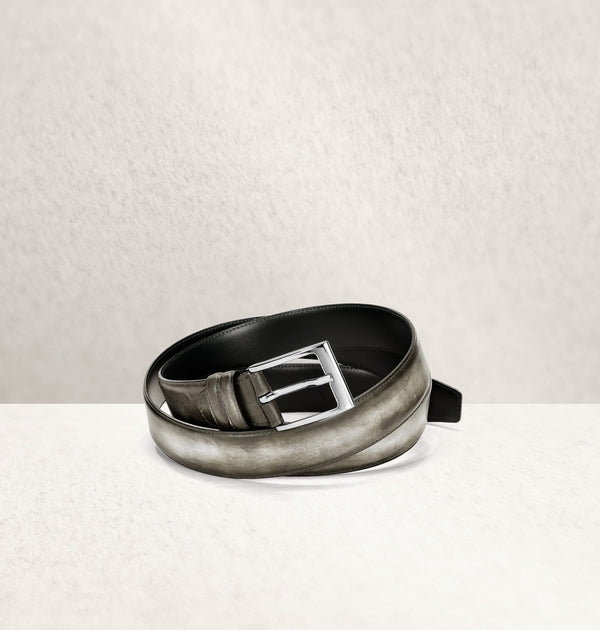Dapper Calf Leather Gris Belt