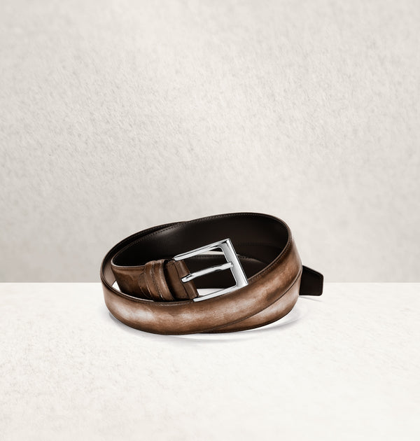 Dapper Calf Leather Marron Belt