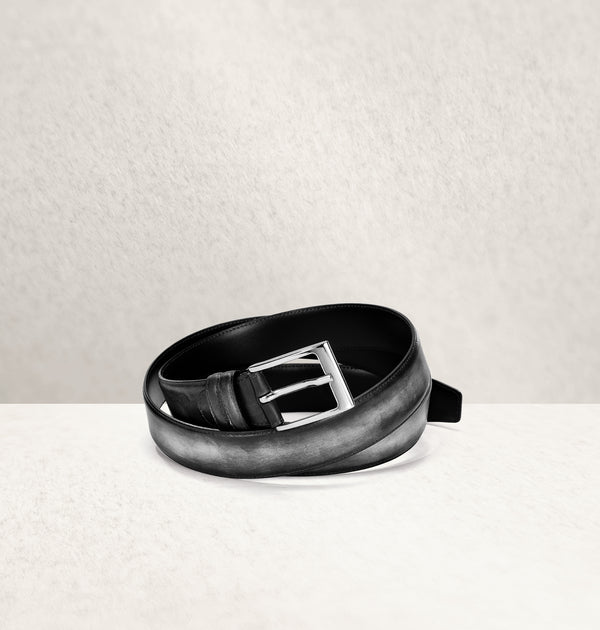 Dapper Calf Leather Noir Belt