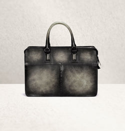 Diplomat Dapper Gris Calf Leather Bag