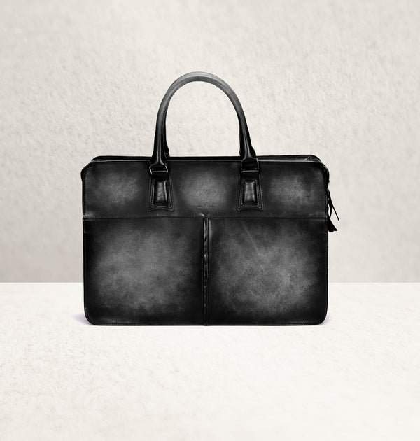 Diplomat Dapper Noir Calf Leather Bag