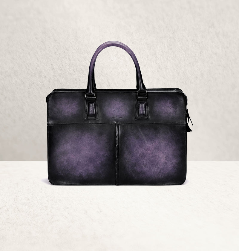 Diplomat Dapper Violet Calf Leather Bag