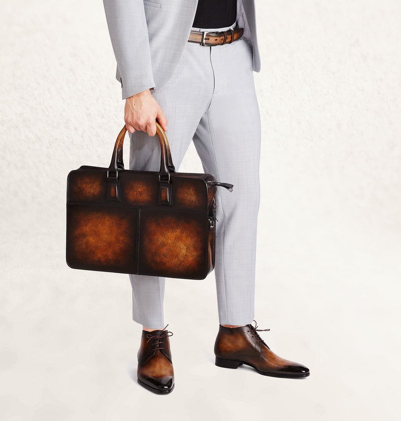 Diplomat Dapper Calf Leather Bag