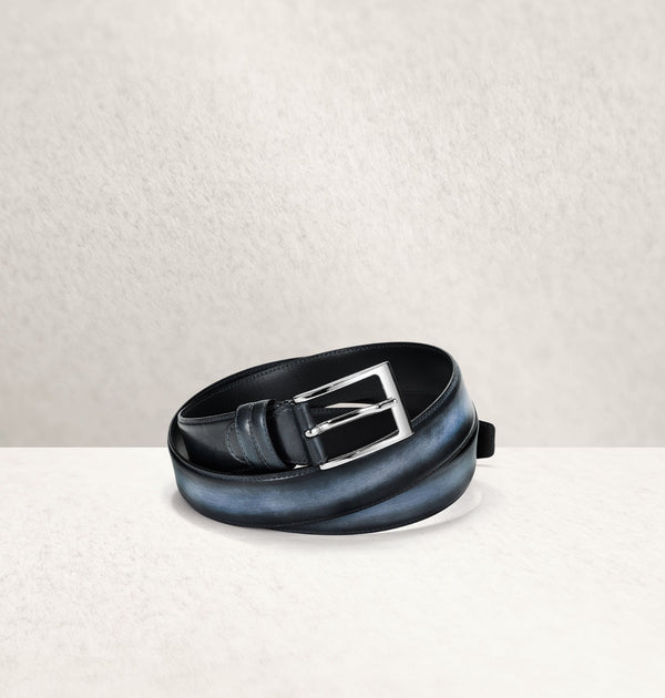 Ombré Calf Leather Bleu Belt