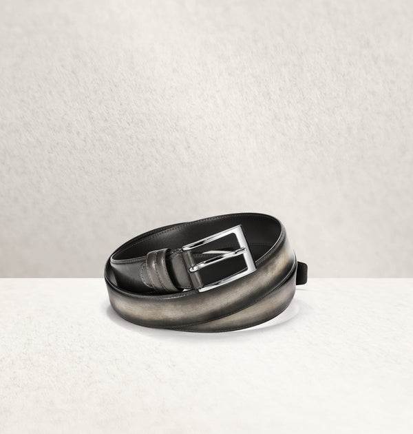 Ombré Calf Leather Gris Belt