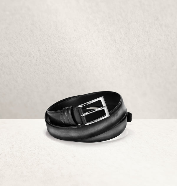 Ombré Calf Leather Noir Belt