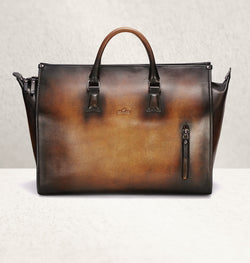 The Weekender Ombré Marron Travel Bag