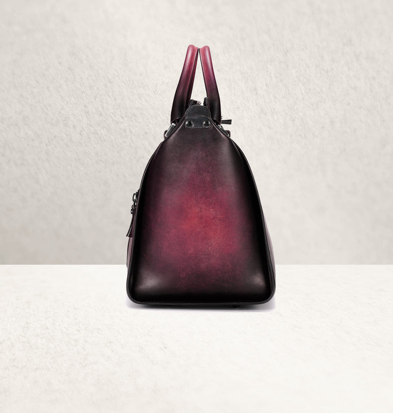 The Weekender Ombré Aubergine Travel Bag