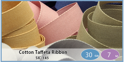 SIC-145(Cotton Taffeta Ribbon)