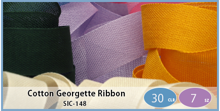 SIC-148(Cotton Georgette Ribbon)
