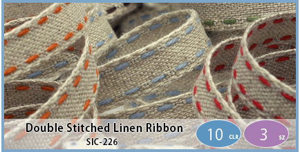 SIC-226(Double Stitched Linen Ribbon)