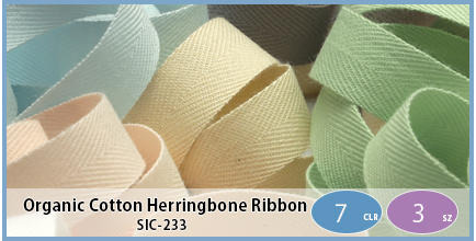 SIC-233(Organic Cotton Herringbone Ribbon)