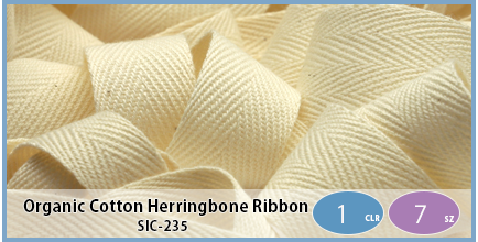 SIC-235(Organic Cotton Herringbone Ribbon)