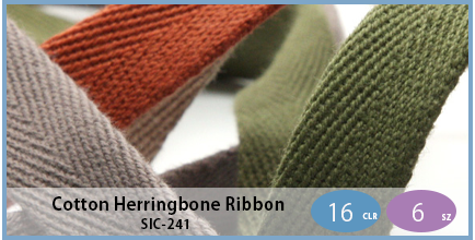 SIC-241(Cotton Herringbone Ribbon)