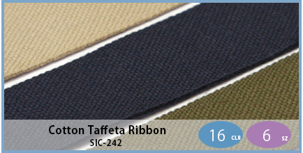SIC-242(Cotton Taffeta Ribbon)