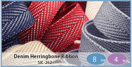 SIC-262(Denim Herringbone Ribbon)