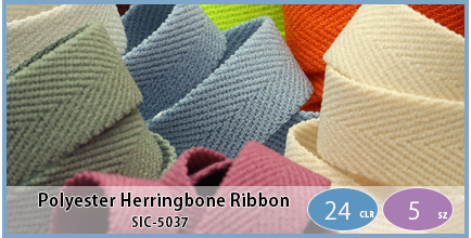 SIC-5037(Polyester Herringbone Ribbon / Soft Stretch)