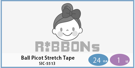 SIC-5513(Ball Picot Stretch Tape)