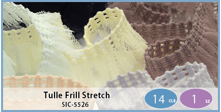 SIC-5526(Tulle Frill Stretch)