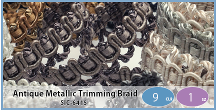 SIC-6415(Antique Metallic Trimming Braid)