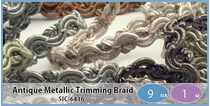 SIC-6416(Antique Metallic Trimming Braid)